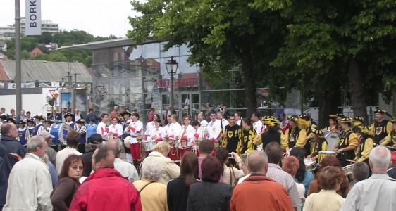Sternmarsch der drei befreundeten Vereine (Kirchweih Ansbach Juli 2008)